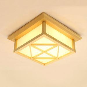 Japanese Wooden Ceiling Light Unusual LED Ceiling Light Living Room Bedroom Study Lighting