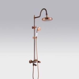 Modern Luxurious Shower System Rose Gold Shower Faucet