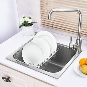 18 inch Topmount Sink Stainless Steel Kitchen Sink (Single Bowl) (Faucet Not Included)