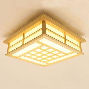 Creative LED Ceiling Light Japanese Wooden Ceiling Light Living Room Bedroom Study Lighting