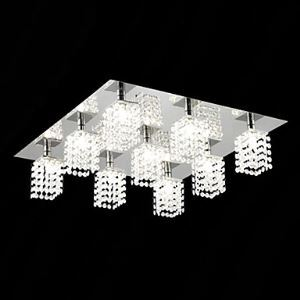 Crystal Flush Mount with 9 lights in Square