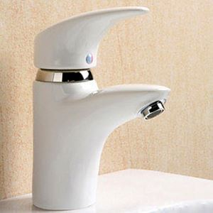 Single Handle Ceramic Faucet White (Finish Painting)