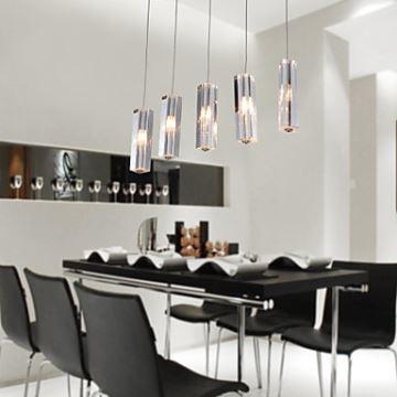 5 light mini bar pendant light with k9 crystal ball drop ceiling lights stainless steel 5 light mini bar pendant light with k9 crystal ball drop aloadofball Images
