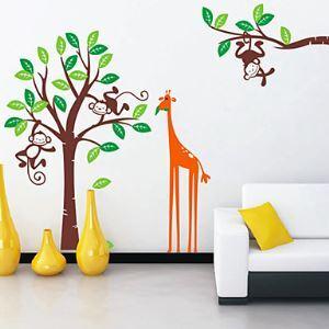 Children's Monkey Giraffe Wall Stickers