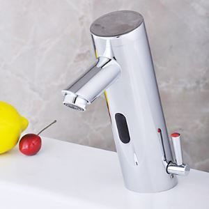 Chrome Bathroom Sink Faucet with Hydropower Automatic Sensor (Hot and Cold)