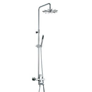 Chrome Finish Contemporary Single Handle Sliding Shower Faucet