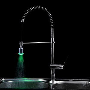 Color Changing LED A Grade ABS Chrome Finish M24x1 Male Faucet Sprayer Nozzle