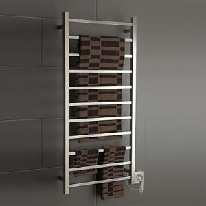 130W Elegance Wall Mount Square Pipe Towel warmer Drying Rack