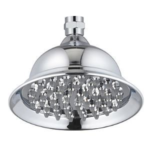 Contemporary 6 Inch Chrome Finish Brass Rainfall Shower Head