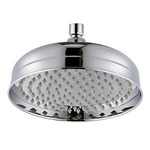 Contemporary 8 Inch Brass Rainfall Shower Head Chrome Finish