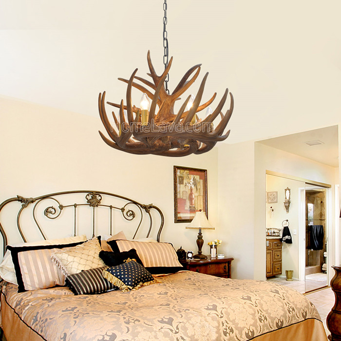 Rustic Cascade Chandelier Antler Chandelier with 6 Lights