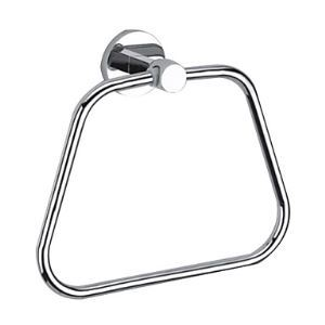 Contemporary Chrome Finish Solid Brass Wall Mount Silver Towel Rings