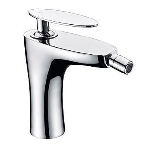Contemporary Single Handle Chrome Finish Bidet Faucet