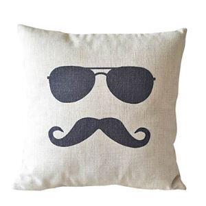 Cool Man Cotton/Linen Decorative Pillow Cases 037