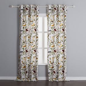 ( One Panel ) Country Bird 100% Cotton Energy Saving Curtains