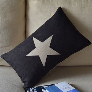 Country Star Cotton/Linen Decorative Pillow Cover 068