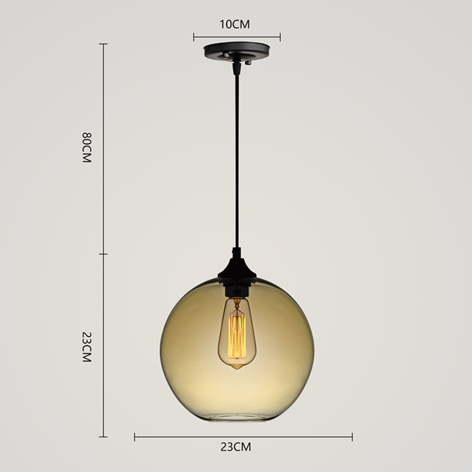 Modern Minimalist Glass Pendant Light Globe Pendant with 1 Light Dining Room Living Room Bedroom Lighting
