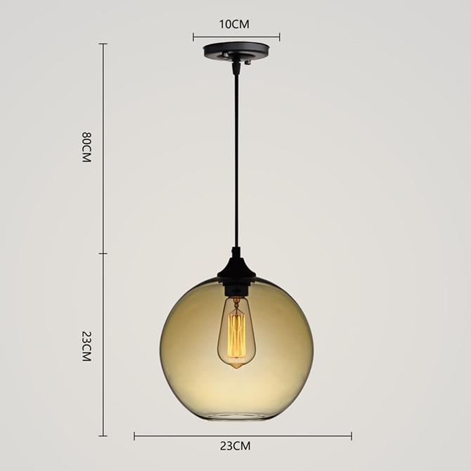 Modern Minimalist Glass Pendant Light Globe Pendant with 1 Light Dining Room Living Room Bedroom Lighting
