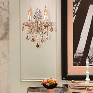 Elegant Crystal Wall Light with 2 Lights