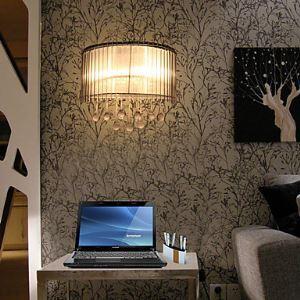 Elegant Crystal Wall Light with 2 Lights