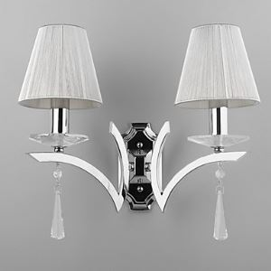 Elegant Wall Light with 2 Lights - Crystal Drops Decorated
