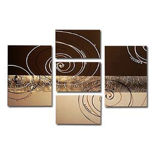 Hand-painted Abstract Oil Painting without Frame - Set of 5