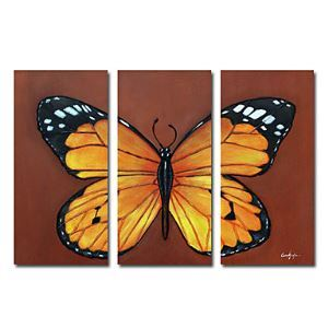 Hand-painted Animal Oil Painting without Frame - Set of 3