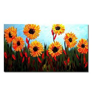"""Hand-painted Floral Oil Painting with Stretched Frame 20"""" x 24"""""""