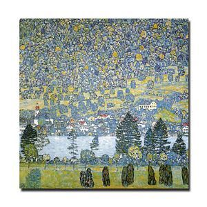 Hand-painted Landscape Oil Painting by Gustav Klimt without Frame