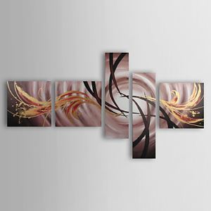 Hand-painted Landscapes Oil Painting with Stretched Frame - Set of 5