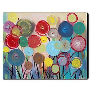 Hand Painted Oil Painting Abstract Floral 1211-AN0086