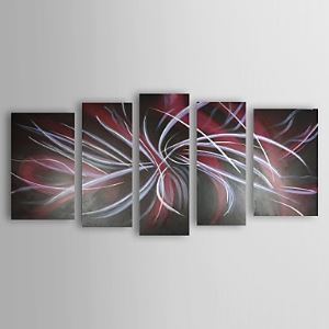 Hand-painted Oil Painting Abstract Oversized Wide Set of 5
