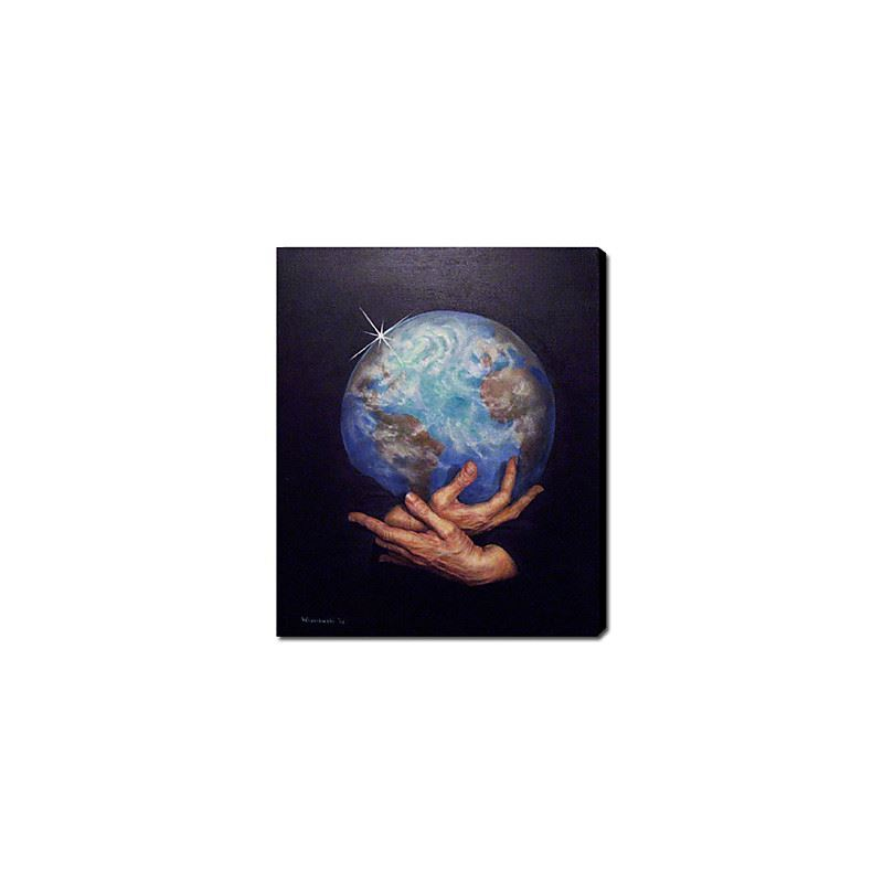 Hand Painted Oil Painting Abstract Peace On Earth 1211-AB0115