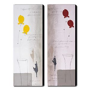 Hand-painted Oil Painting Abstract Set of 2 1211-AB0053