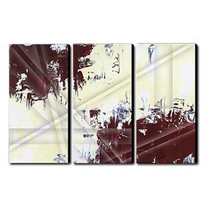 Hand Painted Oil Painting Abstract Set of 3 1211-AB0180