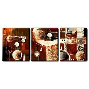 Hand Painted Oil Painting Abstract Set of 3 1211-AB0206