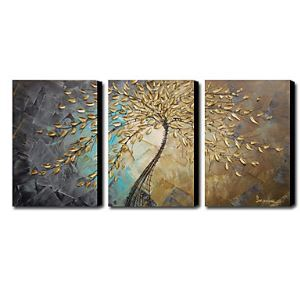 Hand Painted Oil Painting Abstract Set of 3 1211-AB0234