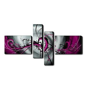 Hand-painted Oil Painting Abstract Set of 4 1211-AB0063