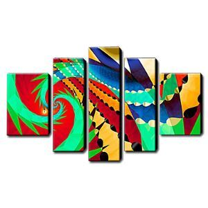 Hand Painted Oil Painting Abstract Set of 5 1211-AB0197