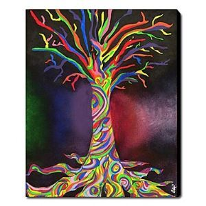 Hand Painted Oil Painting Abstract Tree 1211-AB0088