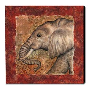 Hand Painted Oil Painting Animal Elephant 1211-AN0059
