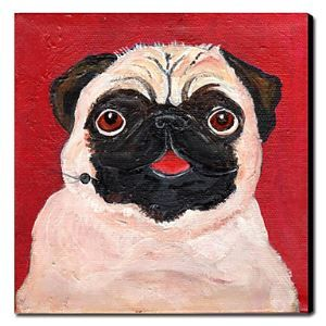 Hand Painted Oil Painting Animal Emo 1211-AN0027