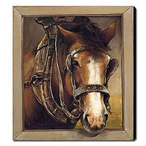 Hand Painted Oil Painting Animal Horse 1211-AN0061