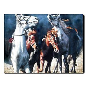 Hand Painted Oil Painting Animal Horses 1211-AN0058