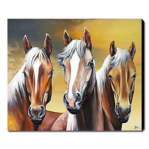 Hand Painted Oil Painting Animal Horses 1211-AN0059