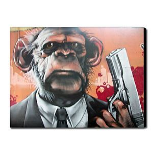 Hand Painted Oil Painting Animal Monkey Man 1211-AN0026