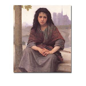 Hand-painted Oil Painting by William Adolphe Bouguereau without Frame