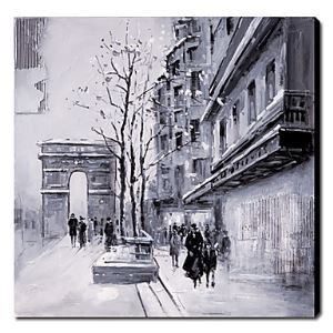 Hand-painted Oil Painting City and Architecture Landscape 1211-LS0014