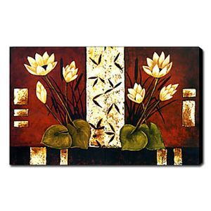 """Hand-painted Oil Painting Floral 24"""" x 36"""" Landscape"""