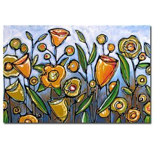 """Hand Painted Oil Painting Floral 24"""" x 36"""" Wide"""